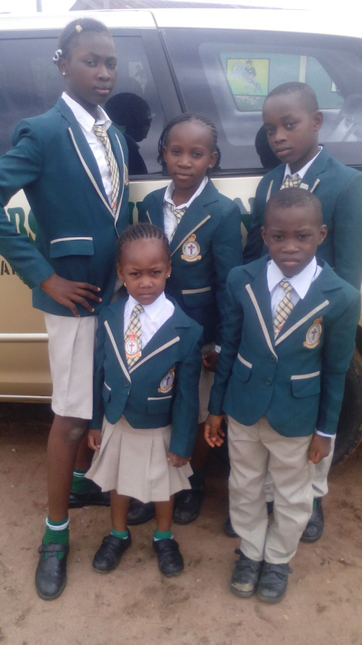 Kids in their Ceremonial Outfit